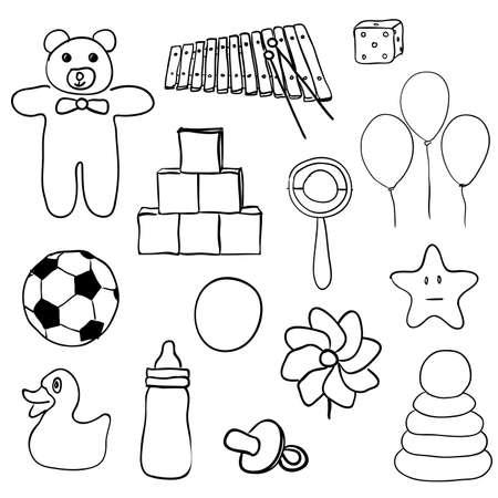 juguetes de colección Ilustración de vector