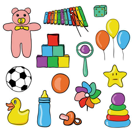 toys collection Stock Vector - 9363250
