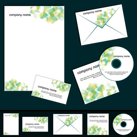 business template collection, EPS10 Vector