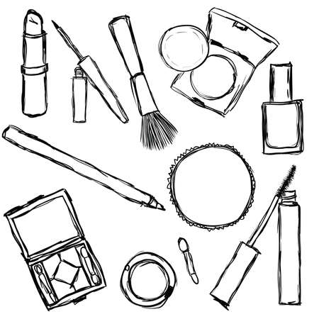 cosmetics collection Stock Vector - 9679833