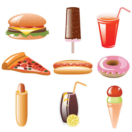 ice lolly: web icon set - foods and beverages Illustration