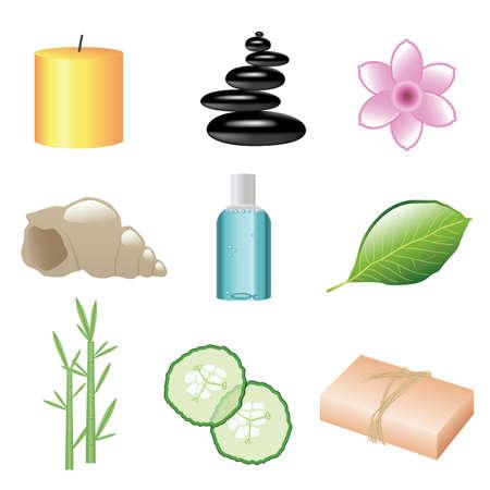 massage therapie: set van spa Webpictogrammen
