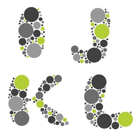 alphabet - part three - I, J, K, L Vector