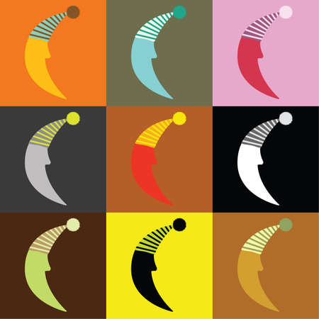 good humor: nine moons in different color