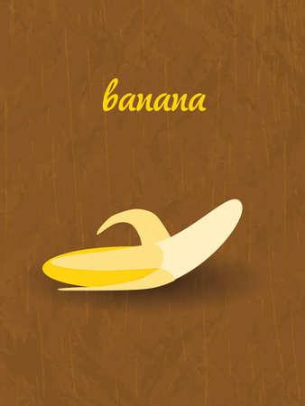 shingles: vertical retro poster - banana