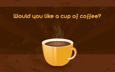 cofe: horizontal retro poster - cup of coffee