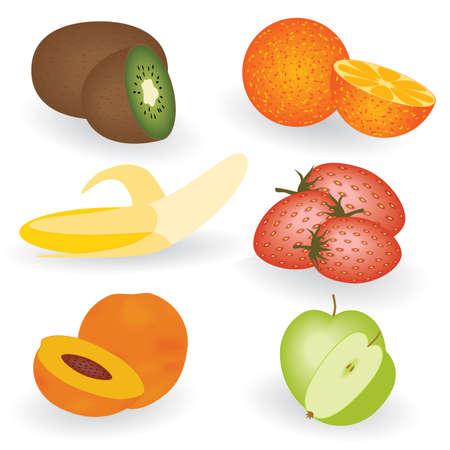 plantain: set of fruits Illustration