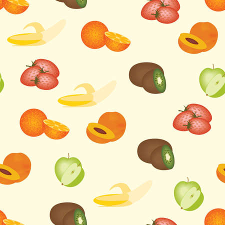 seamless fruits pattern Stock Vector - 10344550