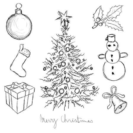 doodle christmas set Stock Vector - 10424601