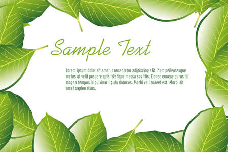 leaf frame with sample text Ilustrace