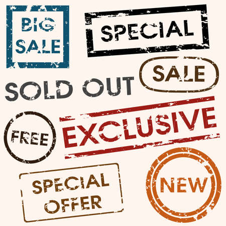 sale titles Stock Vector - 10549047