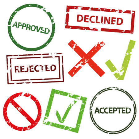 approved, declined, rejected and accepted Vector