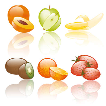 set of fruits Stock Vector - 10754310