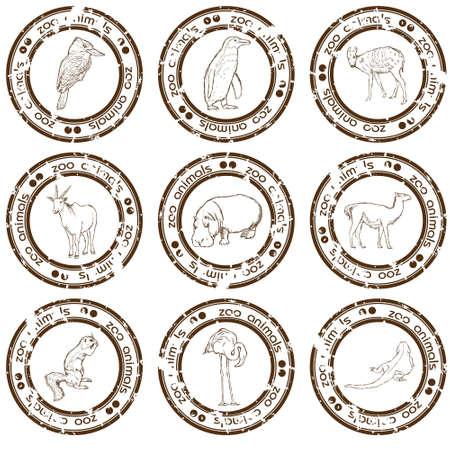 antarctic: zoo stamps