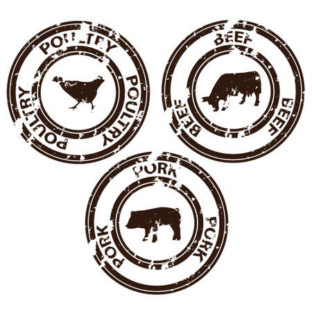 beef: meat stamps Illustration