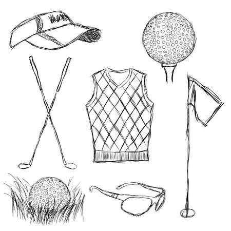 visor: golf collection