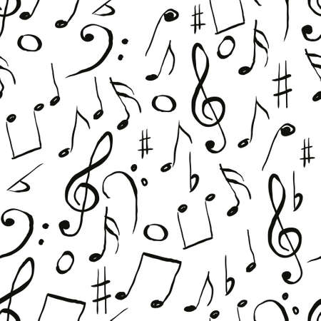 music pattern Stock Vector - 10997583