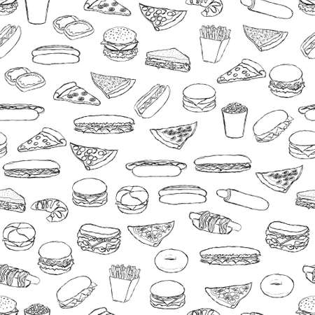 jam sandwich: food pattern Illustration