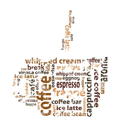 coffee with text Vector