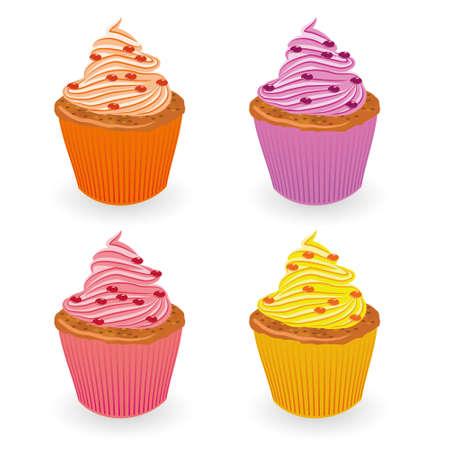 cupcake set Stock Vector - 11273017