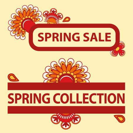sale titles - spring sale and spring collection Vector