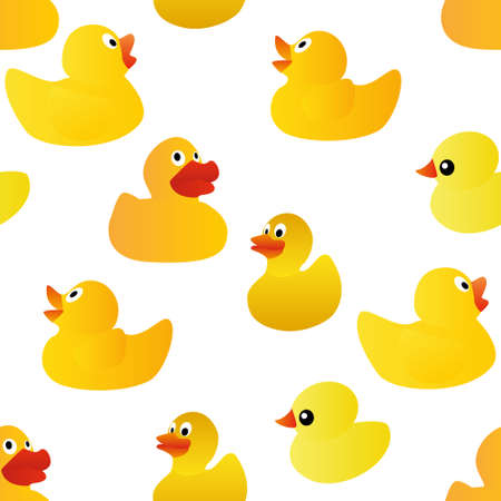 rubber duck: ducks seamless pattern Illustration
