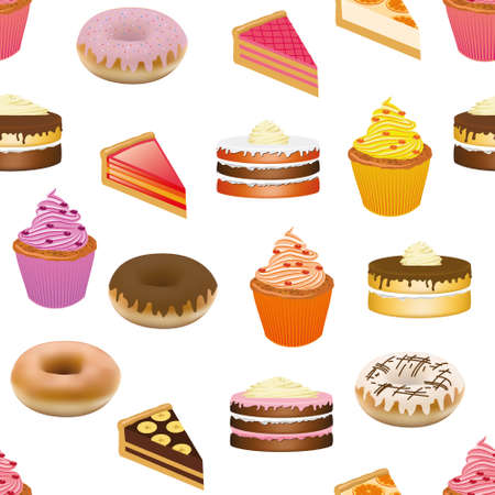 gateau: torte modello seamless