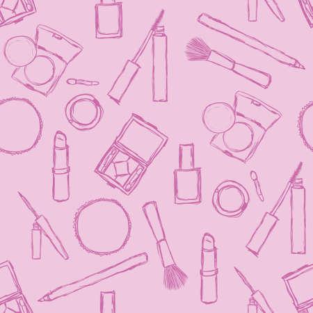 cosmetics seamless pattern 矢量图像