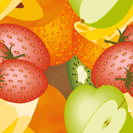 fruits seamless pattern Stock Vector - 11538545