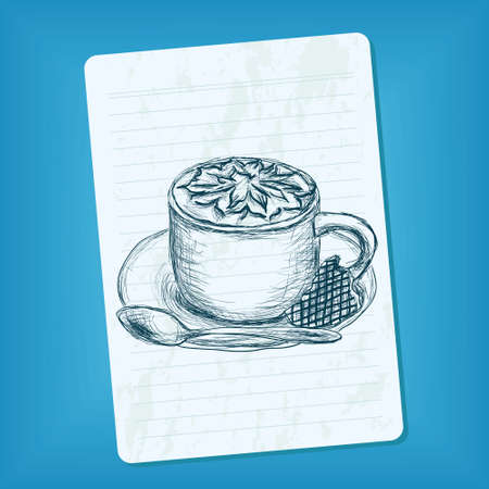doodle cup of coffee Stock Vector - 11664170