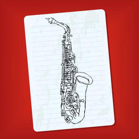 doodle saxophone Stock Vector - 11664168