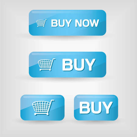 blue buy buttons Stock Vector - 11664169