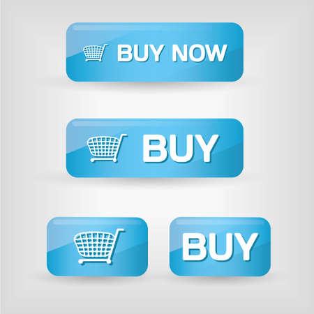 pulsanti acquistare blu