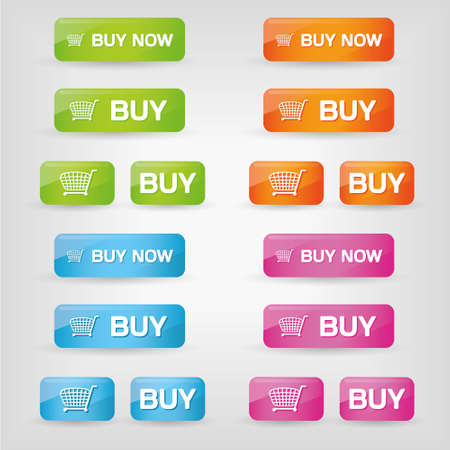 buy buttons in different colors Vector