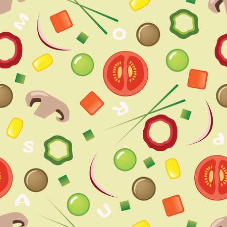 meat soup: soup pattern Illustration