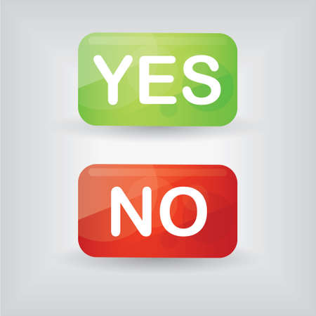 yes and no: yes an no buttons