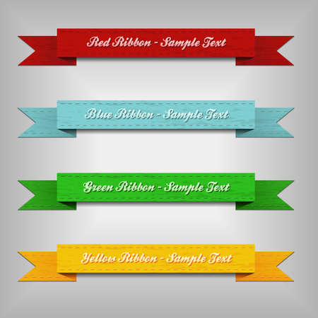 vertical banner: set of ribbons