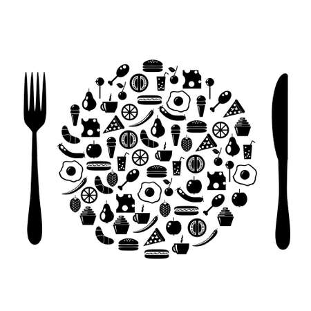 icon plate Stock Vector - 12079345