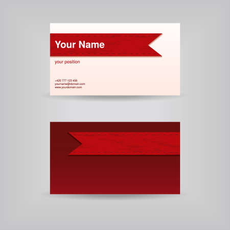 business card with ribbon Vector