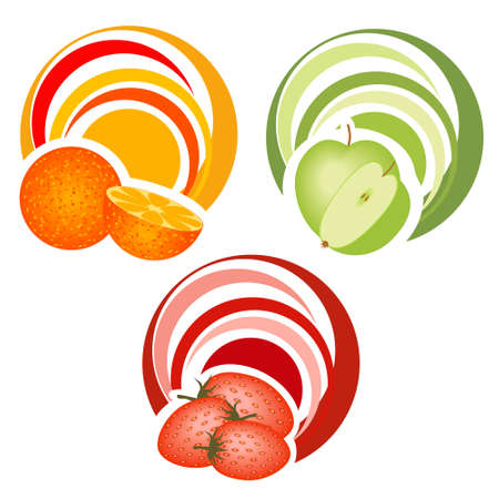 fruits with decoration Stock Vector - 12377573