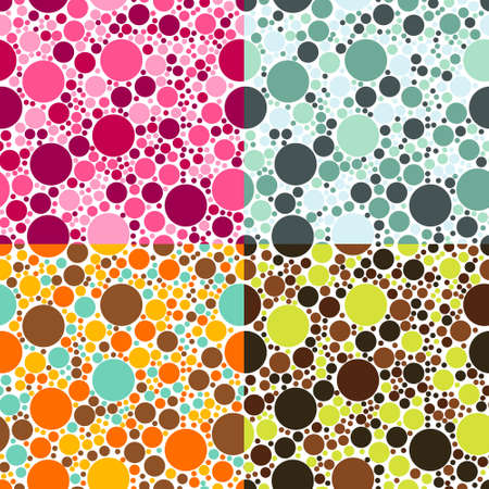 dots seamless patterns Stock Vector - 12496773