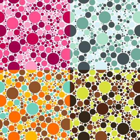 lila: dots seamless patterns