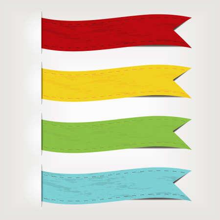 bookmark ribbon: set of ribbons