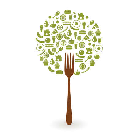 foods tree Vector