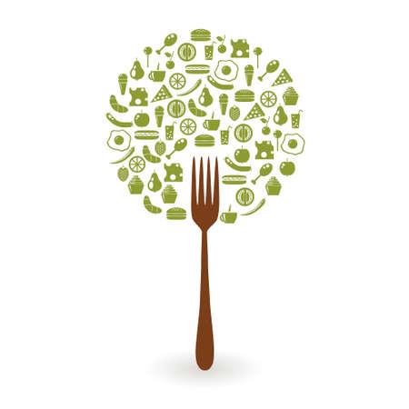 arbol de manzanas: árbol de los alimentos