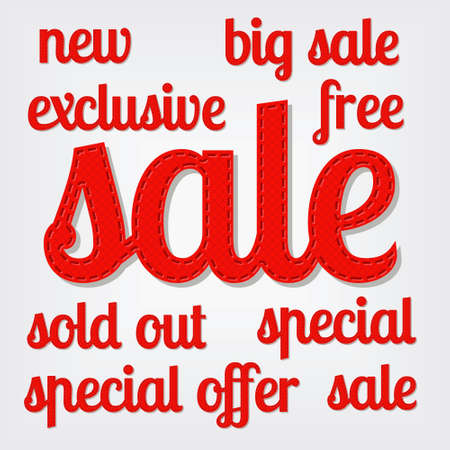 sale titles Vector