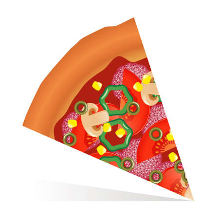 slice of pizza Stock Vector - 12845904