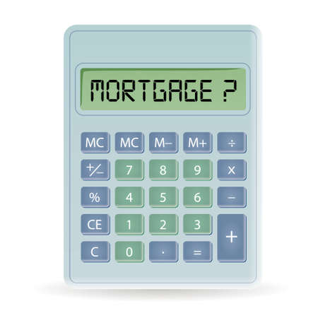 calculator with mortgage title Vector