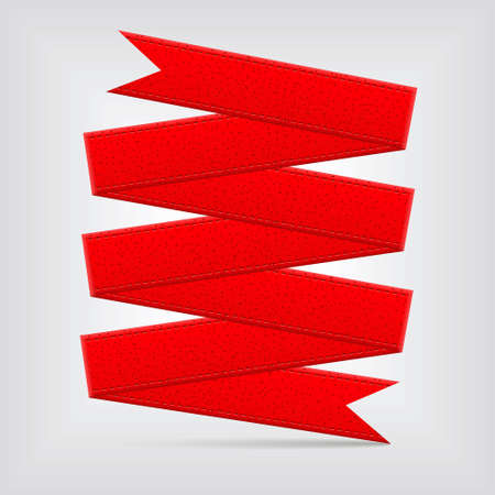 textured paper: red ribbon