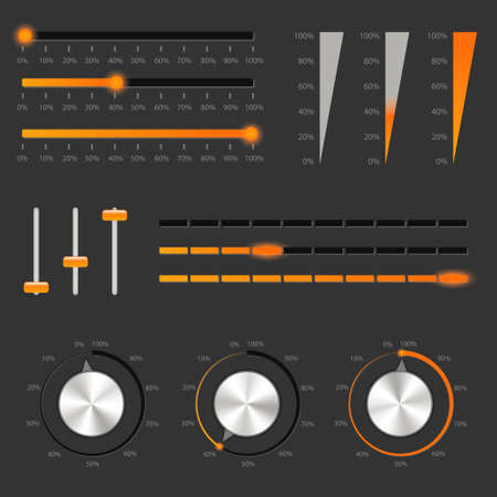 audio controls collections Vector